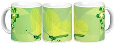 Butterfly in green 11oz Classic White Mug from #zazzle http://www.zazzle.com/butterfly_in_green_11oz_classic_white_mug-168299314017806647