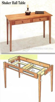 Shaker Hall Table Plans - Furniture Plans and Projects | WoodArchivist.com