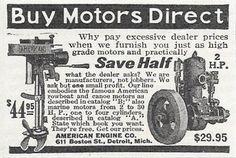 1915 AMERICAN MARINE ENGINE & OUTBOARD MOTOR AD DETROIT MI MICHIGAN