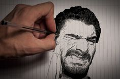 Auto portrait - Stop to drawing me ! by Tao Covillault