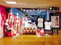 Visual Display Debenhams Bromley: Think Pink