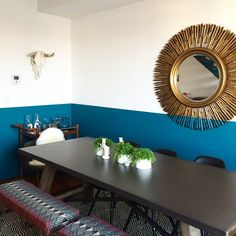 Our clients Jenna & Ryan worked with Homepolish designer Tina to create this whimsical, fun space in their Brooklyn Brooklyn, Black Eames Chair, Eames Chairs, Home Design, Design Ideas, Black Dining Room Chairs, Dining Table, Home Interior, Interior Design