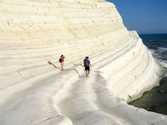 Scala dei Turchi in Sicily - aka the Turkish Steps, a gorgeous rock formation near the beaches of Agrigento.