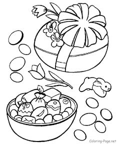 Easter Coloring Pages - Wrapped Easter Egg