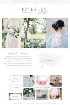 Wix Website Template, wedding planner website, event planner website, website design, event planner logo,wedding planner logo design, site41 by SunnyBlossomDesigns on Etsy