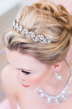 Glam headband: http://www.stylemepretty.com/canada-weddings/british-columbia/vancouver/2015/04/02/colorful-spring-wedding-inspiration-at-stanley-park-chapel/ | Photography: Vivid Moments - http://www.vividmoments.ca/