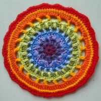 Crochet Mandala Wheel made by Leslie, Canada, for yarndale.co.uk