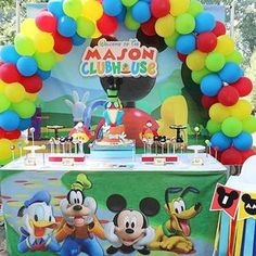 Our outdoor Mickey Mouse Clubhouse Birthday setup for Mason's First Birthday! #mickeymousefirstbirthday #mickeymouseparty #mickeymouse #clubhouse #kidsparties #partydecor #nykidsparty #balloonarch #forestpark #highchair #custombackdrops #customprints #cake #desserts #firstbirthday #outdoorevents #partyideas #catchmyparty #weheartparties #nyc #queens #brooklyn #manhattan #longisland #nyevents #nyeventplanner #eventstylist #desserttable #prints #beelovedparties