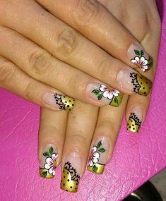Spring Nail Art, Spring Nails, French Manicure Nails, Beauty, Pretty Nails, Gorgeous Nails, Gel Nail Art, Nail Stuff, Flamingo Nails