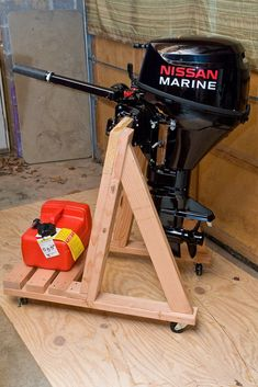 Build your own outboard motor stand