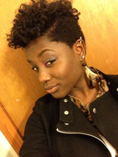 Mohawk with flats twist out and Bantu knots