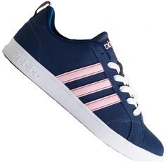 Tênis Adidas Advantage VS Casual Feminino Azul Marinho   Rosa 677cbc8a272