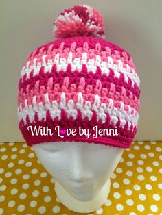 With Love by Jenni: Spikey Rows Hat Pattern