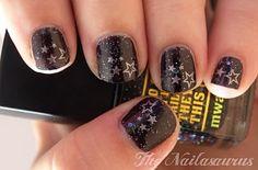 Konad M3, Stars, Glitter Black