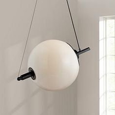 "Nova 24 1/4"" Wide Anodized Black Globe Pendant Light"