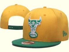 RSS Product Feed    Wholesale - Chicago Bulls Snapback GoldEnrod DarkGreen  Hats Caps New Era f645d163c