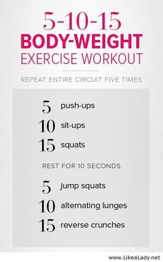 Exercise workout