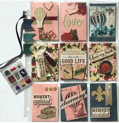 Pocket Letter with a Mini Pocket Letter Planner Charm by Jackie Benedict