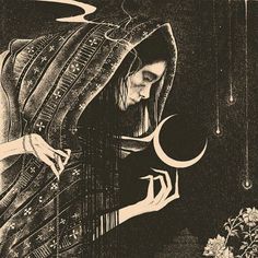 Dark illustrations inspired by myth, folklore and magick by Glyn Smyth - Glyn Smyth, also known under his brand-name Stag & Serpent, is a self-taught illustrator, designer - Kunst Inspo, Art Inspo, Art And Illustration, Illustrator, Mystique, Witch Art, Psychedelic Art, Folklore, Magick