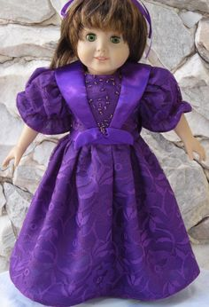 Dark magenta overall lace gown with a satin by TinaDollDesigns, $28.00