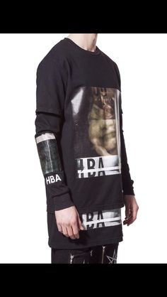 Double layered tee And sleeve  By Hood By Air