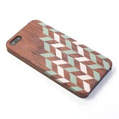 Geometric wood pattern pastel green iphone case by happybuddy Pretty Iphone Cases, Green Copper, Wood Patterns, Geometric Designs, Iphone 4, Creative, Handmade, Etsy, 6 Case