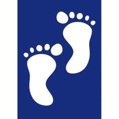 POCHOIR CRÉATIF Pochoir - Petits pieds de bébé - A5 - Pochoir s…