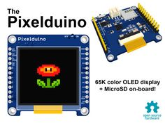 Developed by the Rapid Prototypes team, Pixelduino — which recently made its Kickstarter debut — is an Arduino-compatible microcontroller equipped with a full-color OLED display. #Atmel #Pixelduino #Makers #Arduino #Kickstarter