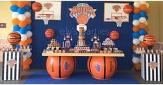Ball Theme Party, Sports Themed Birthday Party, Basketball Birthday Parties, First Birthday Themes, Birthday Party For Teens, Sports Party, 40th Birthday, Basketball Baby Shower, Gender Reveal Party Games