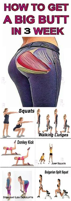 No Squats Booty Workout Butt Lifting Exercises Fitness Workouts, At Home Workouts, Fitness Tips, Fitness Motivation, Butt Workouts, Squat Workout, Workout Challenge, Workout Plans, Exercise Plans