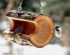 Wood slice DIY Bird feeder