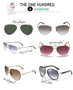 #4 - Aviator Sunglasses, because you need a killer pair of shades.