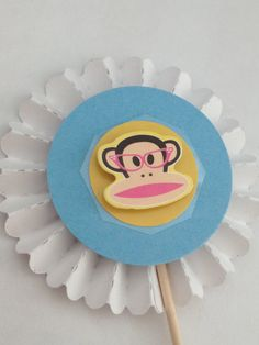 Paul Frank Cupcake Toppers by InkCouture on Etsy, $6.00