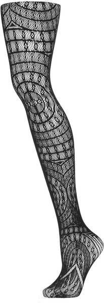 Topshop Black Black Gothic Look Lace Tights
