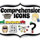 """Comprehension Icons & Poster Set--Consider introducing reading comprehension strategies that will allow you to build concepts in reading throughout the year. Reading is an invisible skill. One way to make it more visual and concrete is to use icons and triggers to help students """"get it."""" Just like icons and toys make the 6 Traits come alive, there are Smekens original icons and triggers for the different reading comprehension strategies as well. FREE!"""