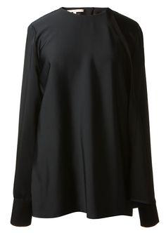 Victoria Beckham Tops :: Victoria Beckham black paneled blouse | Montaigne Market