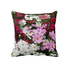 Beautiful Summer Flowers Pillows.