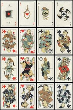 re-print of the Anti-fascist playing cards published by Peterhof State Museum, 2010