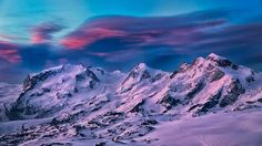 The Monte Rosa massif in the western alps before sunrise, seen from the Hörnlihut, Zermatt. By Guenther Goeberl