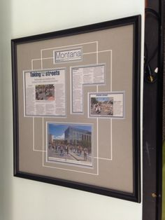 bring a newspaper article to life with unique arrangements and v grooves newspaper framenewspaper articlerichs picturesframing