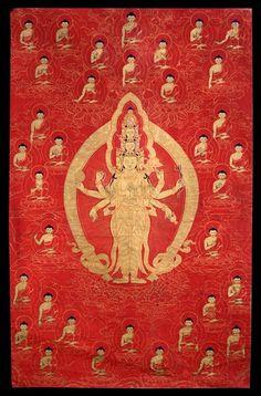 Avalokiteshvara (Bodhisattva & Buddhist Deity) - (11 faces, 8 hands) (HimalayanArt)