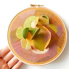 The Delicate Embroidery Of Justyna Wolodkiewicz – Design You Trust Abstract Embroidery, Embroidery Hoop Art, Cross Stitch Embroidery, Embroidery Patterns, Cross Stitching, Contemporary Embroidery, Modern Embroidery, Art Textile, Textile Artists
