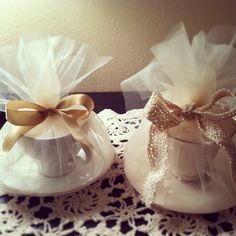 Tea Scented Vintage Teacup Candles by VermilionRose on Etsy, $12.00
