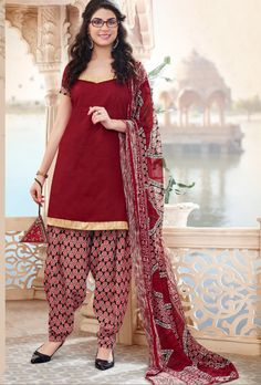 Maroon Cotton Suit - Desi Royale