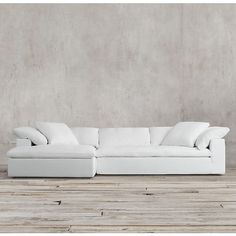 Preconfigured Cloud Track Arm Left-Arm Sofa Chaise Sectional ($5,750) ❤ liked on Polyvore