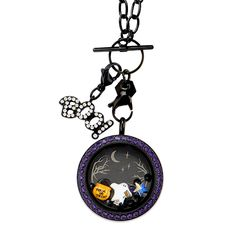 Friendly Ghosts Welcome - ONE CLICK to purchase this Origami Owl Locket and pieces as shown   StoriedCharms.origamiowl.com
