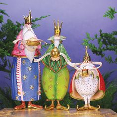 Magi Figures, Set Of 3