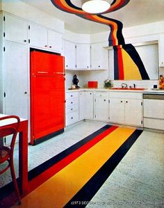 Retro Home Decor for a appealing vibe - decor note number 9290592072 - Positively awesome steps. retro home decorating kitchen suggestions produced on this day 20181229 1970s Decor, 70s Home Decor, Home Decor Kitchen, Vintage Decor, Retro Vintage, Retro Interior Design, Interior Styling, Interior Decorating, Hall Interior