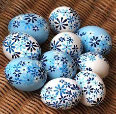 Modro-bílé kraslice