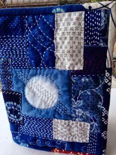 notjustnat creative blog Japanese Quilts, Japanese Sewing, Japanese Textiles, Japanese Embroidery, Japanese Fabric, Embroidery Stitches, Hand Embroidery, Shashiko Embroidery, Boro Stitching